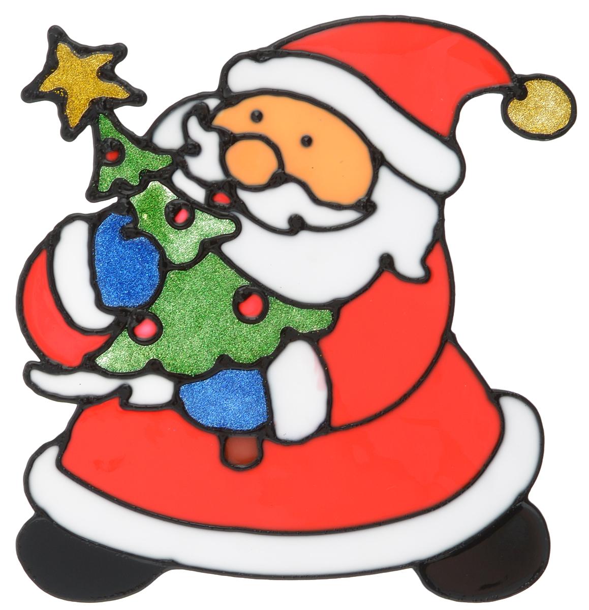 Наклейка на окно Erich Krause Дедушка Мороз, 16 х 15,5 смNLED-454-9W-BKНаклейка на окно Erich Krause Дедушка Мороз выполнена в виде Деда Мороза с елочкой.С помощью больших витражных наклеек на окно Erich Krause можно составлять на стекле целые зимние сюжеты, которые будут радовать глаз, и поднимать настроение в праздничные дни! Так же Вы можете преподнести этот сувенир в качестве мини-презента коллегам, близким и друзьям с пожеланиями счастливого Нового Года!Размер наклейки: 16 х 15,5 см