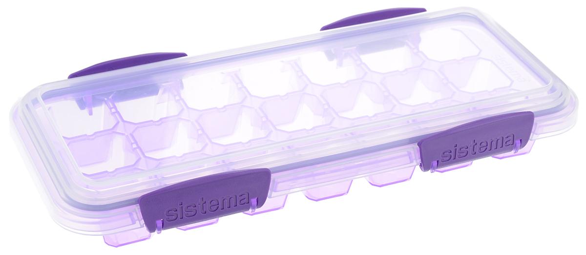 Контейнер для льда Sistema KLIP IT, большой, цвет: фиолетовый, 21 ячейкаVT-1520(SR)Контейнер Sistema KLIP IT предназначен для приготовления 21 кубика льда. Крышка с силиконовой прокладкой герметично закрывается что помогает дольше сохранить полезные свойства продуктов. Контейнер надежно закрывается клипсами, которые при необходимости можно заменить.Размеры контейнера: 27,5 х 12,5 х 4,3 см.