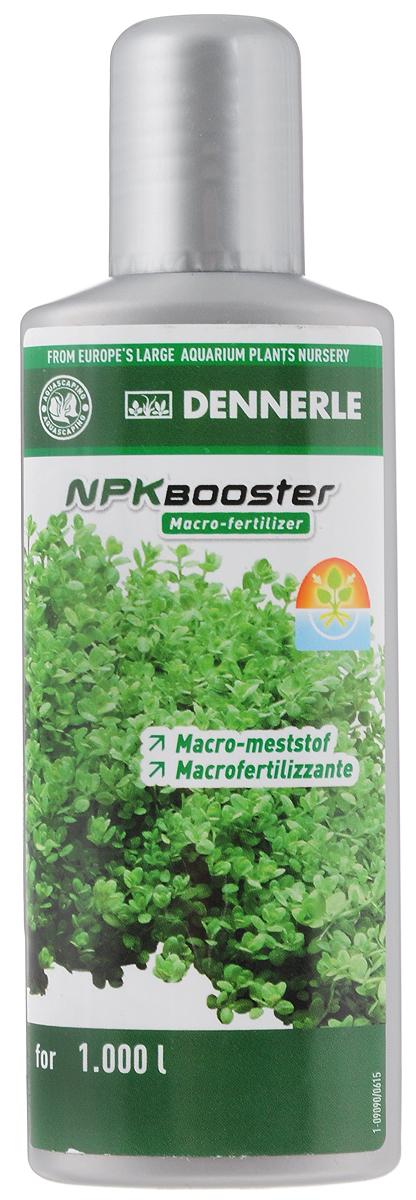 Удобрение для аквариумных растений Dennerle NPK Booster, с комплексом макроэлементов, 100 млDEN4533Удобрение для аквариумных растений Dennerle NPK Booster разработано специально для акваскейпинга. Удобрение идеально подходит для аквариумов с сильным освещением и большим количеством растений, а также для аквариумов с незначительным количеством рыб. Содержит необходимый аквариумным растениям нитрат, фосфат и калий в сбалансированном соотношении. Эффективно предотвращает нехватку макроудобрений, помогает при проявлении симптомов нехватки питательных веществ. Способствует образованию свежей ярко-зеленой листвы. Предотвращает появление желтых полупрозрачных листьев.Дозировка: еженедельно 10 мл (1 полная крышечка) на 100 л аквариумной воды.