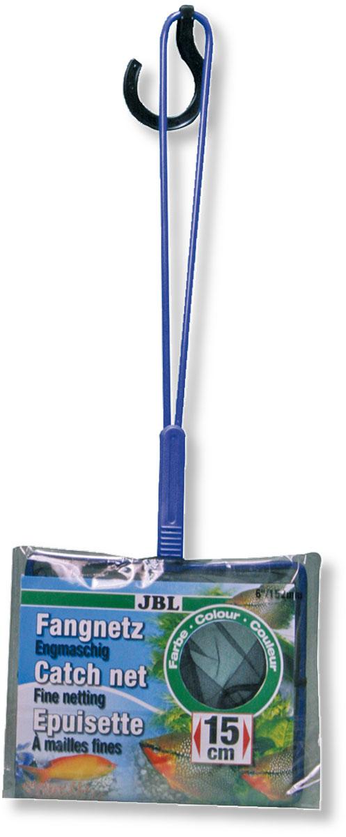 Сачок аквариумный JBL Fangnetz Premium, мелкоячеистый, 13,5 х 15 смJBL6104400Сачок JBL Fangnetz Premium предназначен для легкого извлечения рыб или остатков корма из аквариума. Изделие выполнено из металла со специальным пластиковым покрытием. Сетка изготовлена из износоустойчивой нейлоновой нити. Такой сачок безопасен для рыб, устойчив к коррозии и долговечен. Можно использовать в пресной и морской воде. Размер сачка: 13,5 х 15 см. Длина ручки: 30 см.