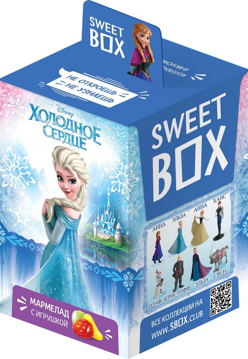 Sweet Box Холодное сердце мармелад жевательный с игрушкой, 10 г0120710Жевательный мармелад с игрушкой Sweet Box Холодное сердце - это не только вкусное лакомство, но и забавная игрушка, выполненная в виде одного из героев одноименного мультфильма.В коллекции 8 персонажей, а сама игрушка выполнены из качественного пластика. Пока не откроете коробочку - не узнаете какая игрушка вам попалась!Внимание! Игрушка предназначена для детей старше 3-х лет.Уважаемые клиенты! Обращаем ваше внимание, что полный перечень состава продукта представлен на дополнительном изображении.