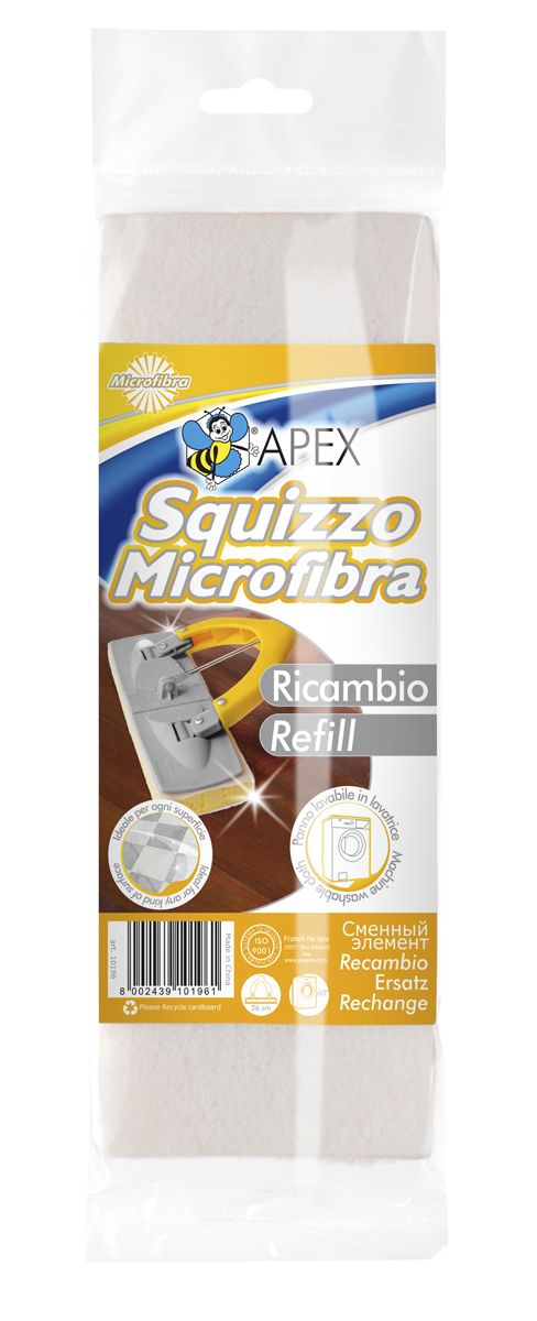 Сменный элемент для поломоя Squizzo11020Сменный элемент для поломоя Squizzo идеально подходит для очищения любого типа поверхностей. Требует меньше усилий при уборке, а также быстро высыхает после использования. Элемент можно стирать в стиральной машине. Характеристики:Материал: поролон, микрофибра. Размер рабочей поверхности: 27 см х 10 см х 4 см. Артикул: 10196-A.