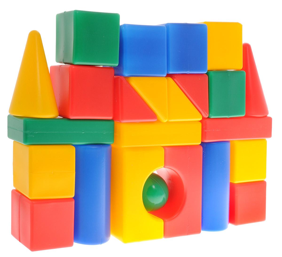 """Яркий конструктор """"Мой городок"""" привлечет внимание вашего ребенка и не позволит ему скучать. Это яркие, вариативные по форме и размерам детали, которые могут послужить материалом для создания целого городка, домика и всего, что ему подскажет фантазия. Из кубиков можно построить оригинальные здания и башни, выдумывать новые игры и формы. Элементы конструктора крупные, поэтому ребенку будет легко и удобно играть с ними. Все элементы изготовлены из высококачественных материалов, которые абсолютно безопасны для ребенка. Конструктор состоит из 24 крупных деталей. Игра с конструктором поможет ребенку научиться соотносить форму и величину предметов, развить мелкую моторику рук, логическое и пространственное мышление и творческие способности, а также поспособствует развитию концентрации внимания и усидчивости."""