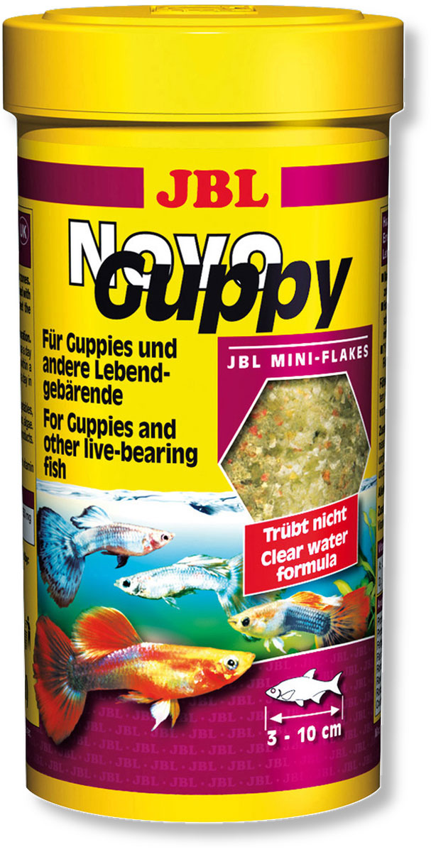 Корм JBL NovoGuppy для гуппи, 100 мл (21 г)0120710Корм JBL NovoGuppy Профессиональный корм для всех живородящих карпозубовых, которые питаются в основном растительной пищей (водорослями) и в небольшом объеме потребляют животную пищу (планктон, красные личинки комаров). Водоросли 7% спирулина имитируют натуральную пищу живородящих, таких как гуппи. Ценные каротиноиды способствуют сохранению и усилению природной окраски рыб. Идеальный размер корма для рыб от 3 до 10 см.Рекомендации по кормлению: 2-3 раза в день в количестве, которое съедается рыбками за 2-3 минуты.Состав: жир 5,50%, белок 36%, клетчатка 2,5%, зола 8,5%, злаки 31,88%, растительные продукты 16,37%, овощи 11,73%, рыба и рыбные продукты 11,49%, концентрат рыбных протеинов моллюски и ракообразные 11,05%, водоросли 7,48%, дрожжи 3,23%, яйца и яичные продукты 0,67%. Вес: 21 г. Товар сертифицирован.