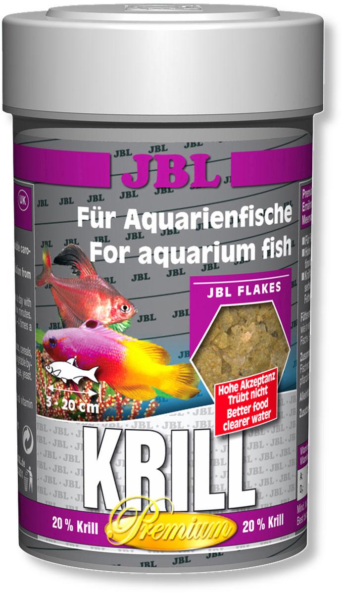 Корм JBL Krill для рыб, в форме хлопьев, 100 мл (16 г)JBL4058100Корм JBL Krill привносит высокоценное разнообразие в меню всех аквариумных рыб. Специальным способом криль мелется в пыль и формируется в хлопья, которые поедаются аквариумными рыбами весьма охотно. Благодаря такой технологии шипы криля больше не опасны для пищеварения рыб. Ценные жирные кислоты и естественные красители криля, а также жизненно важные витамины способствуют здоровому росту и прекрасной окраске рыб. Идеальный размер корма для рыб от 3 до 20 см. Рекомендации по кормлению: два или три раза в день порциями, которые могут быть съедены рыбами в течение нескольких минут.Состав: белок 47%, жир 6%, клетчатка 3,5%, чистая зола 10,5%, витамин А 25000 i.E., витамин D3 2000 i.E., витамин Е 300 мг., витамин С 400 мг., инозит 750 мг. Вес: 16 г.Товар сертифицирован.