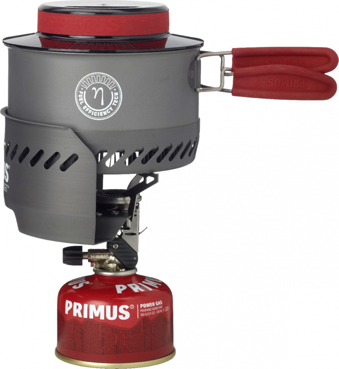 Горелка газовая Primus Express Stove Set, цвет: серый353094Набор Primus Express Stove Set - включает в себя газовую горелку с пьезоподжигом, ветрозащиту и котелок емкостью 1 л с крышкой и теплообменником. Котелок обеспечен трехслойным антипригарным покрытием, что значительно улучшает эксплуатационные характеристики посуды.Весь комплект, а также газовый баллон весом 100 грамм, можно упаковать непосредственно внутри котелка, что делает эту модель очень компактной.Особенности: Время закипания 1 литра воды: 2,4 мин.Вес: 449 гр.Пьезоподжиг: есть Оптимально для: 1-2 чел.