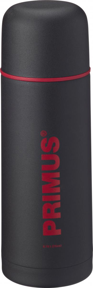 Термос Primus C&H Vacuum Bottle, цвет: темно-серый, 750 мл732372Термос имеет двойные стенки, изготовлен из нержавеющей стали и покрыт износостойкой порошковой краской.C & H в названии модели - это холодный и горячий, что означает, что благодаря своим превосходным возможностям теплоизоляции, термос способен поддерживать температуру холодных и горячих напитков в течении нескольких часов. Комбинированная крышка, сочетающая в себе кружку, компактный и легкий дизайн, удобный клапан с функцией Quick-stop делают термос Primus C&H Vacuum Bottle максимально удобным и функциональным. Его легко расположить как внутри рюкзака, так и в боковом кармане.Объем термоса: 750 мл.