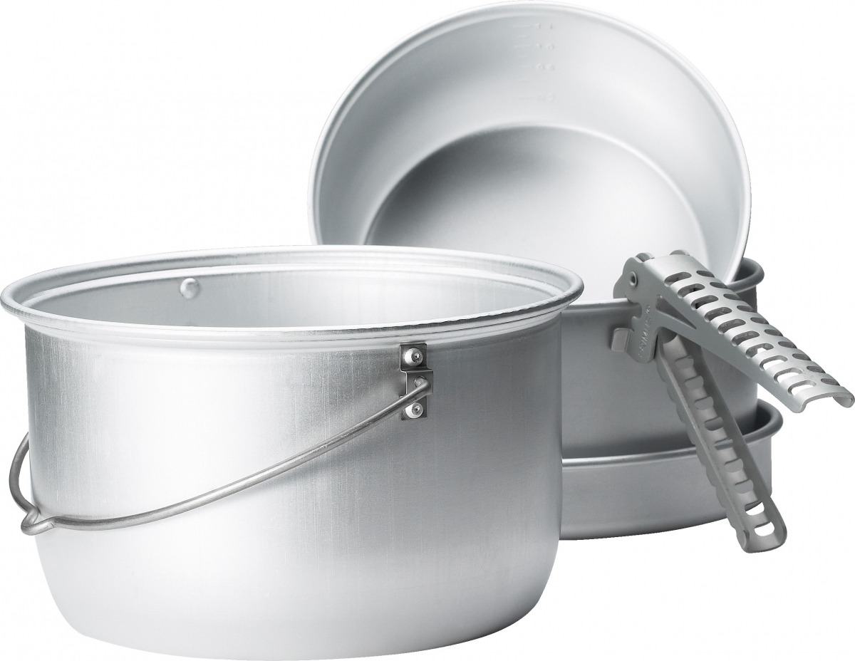 Набор посуды Primus Classic Family Set, цвет: серый, 5 предметов