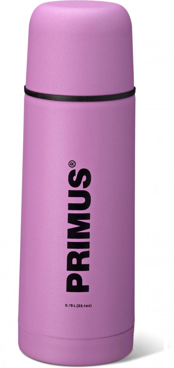 Термос Primus C&H Vacuum Bottle, цвет: розовый, 750 млHY-TP205-4Термос имеет двойные стенки, изготовлен из нержавеющей стали и покрыт износостойкой порошковой краской.C & H в названии модели - это холодный и горячий, что означает, что благодаря своим превосходным возможностям теплоизоляции, термос способен поддерживать температуру холодных и горячих напитков в течении нескольких часов. Комбинированная крышка, сочетающая в себе кружку, компактный и легкий дизайн, удобный клапан с функцией Quick-stop делают термос Primus C&H Vacuum Bottle максимально удобным и функциональным. Его легко расположить как внутри рюкзака, так и в боковом кармане.Объем термоса: 750 мл.