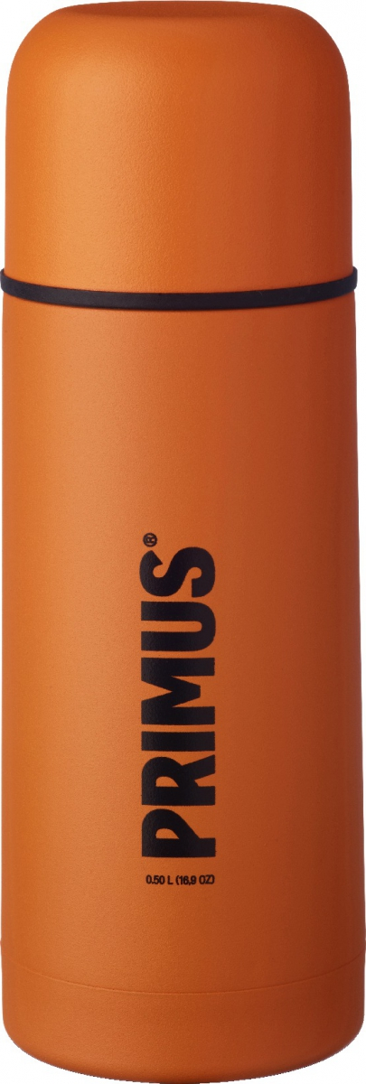 Термос Primus C&H Vacuum Bottle, цвет: оранжевый, 500 мл737846Термос имеет двойные стенки, изготовлен из нержавеющей стали и покрыт износостойкой порошковой краской.C & H в названии модели - это холодный и горячий, что означает, что благодаря своим превосходным возможностям теплоизоляции, термос способен поддерживать температуру холодных и горячих напитков в течении нескольких часов. Комбинированная крышка, сочетающая в себе кружку, компактный и легкий дизайн, удобный клапан с функцией Quick-stop делают термос Primus C&H Vacuum Bottle максимально удобным и функциональным. Его легко расположить как внутри рюкзака, так и в боковом кармане.Объем термоса: 500 мл.