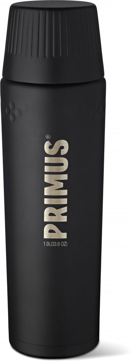 Термос Primus TrailBreak Vacuum Bottle, цвет: черный, 1 л737863Термос обладает двойными стенками и имеет вакуумную изоляцию. Изготовлен из высококачественной нержавеющей стали, что наделяет его очень прочным и износостойким корпусом. Термос отлично подходит для всевозможных приключений в экстремальных условиях, идеально подходит для альпинизма или пешего туризма.Крышка-чашка также имеет двойные стенки и выполнена из нержавеющей стали, чтобы сохранить напиток горячим или холодным долгое время. Большая горловина позволяет термос заполнить напитками и очистить. Если вы захотите пить прямо из термоса, в этом вам поможет запатентованная крышка с функцией ClickClose - просто поверните клапан! Стоит также отметить внешний вид термоса - он выполнен в строгом скандинавском стиле.Объем термоса: 1000 мл.