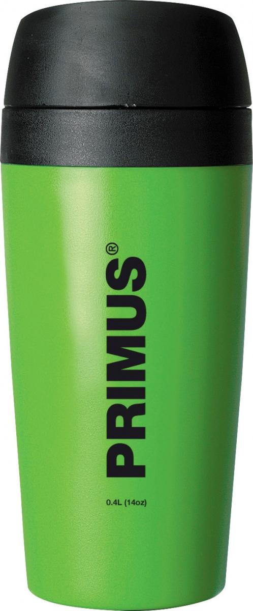 Термокружка Primus Commuter Mug, цвет: зеленый, 400 мл737906Primus Commuter Mug 0.4L - термокружка изготовлена из пластика который не дает привкуса и предназначена для максимального сохранения температуры напитка.