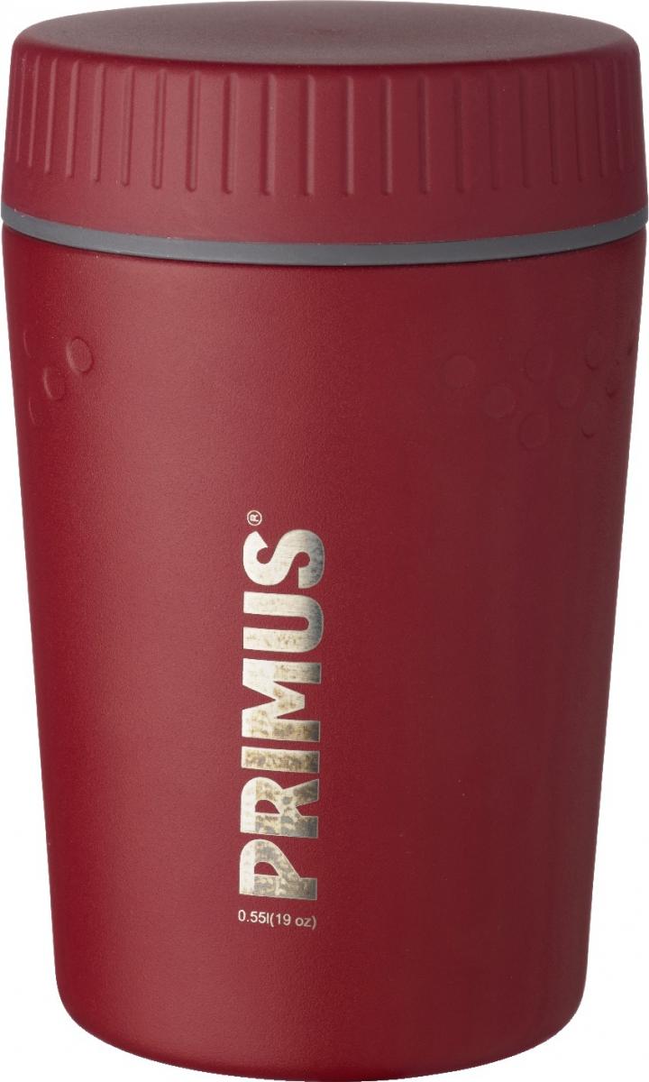 Термос Primus TrailBreak Lunch Jug, цвет: красный, 550 мл737948Термос изготовлен из нержавеющей стали. Двойные стенки с вакуумом между ними помогают надолго сохранить изначальную температуру продуктов. Крышка - 100% герметична, поэтому термос можно не опасаясь носить в сумке или рюкзаке. Широкая цветовая гамма позволяет выбрать термос на любой вкус. Благодаря новой конусообразной форме термос стало еще легче и удобнее убирать в наполненный вещами рюкзак.Объем термоса: 550 мл.
