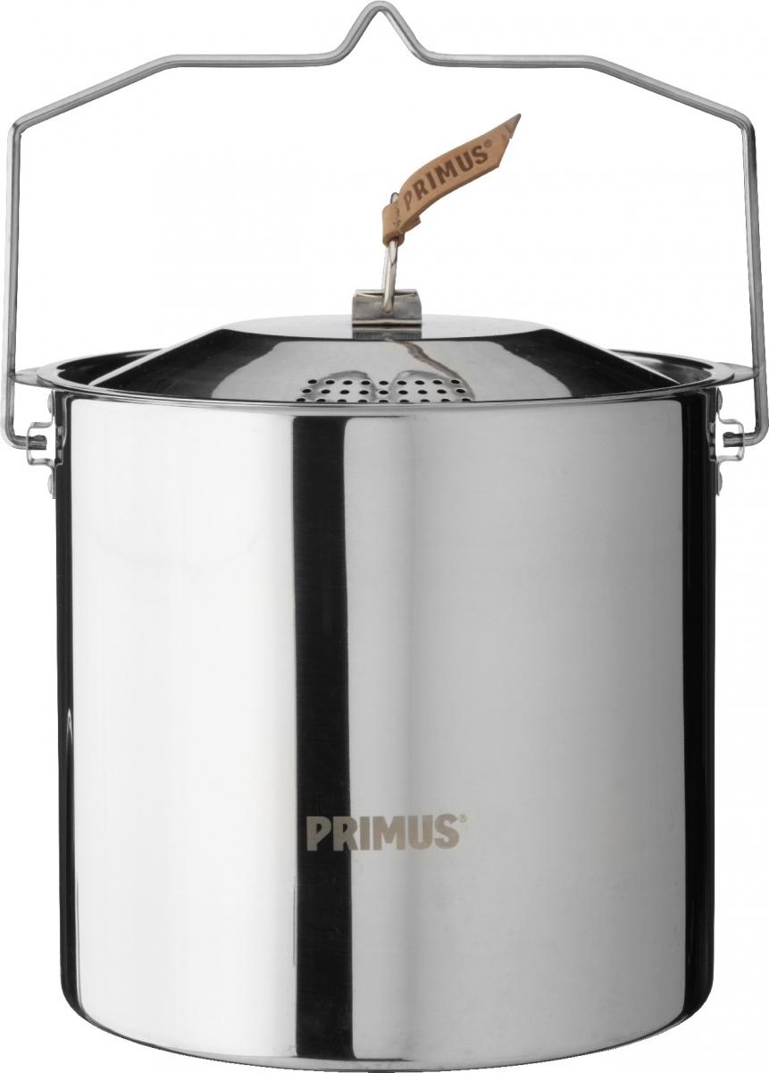 Кастрюля Primus CampFire Pot S/S, цвет: серый, 5 лW10304Campfire Pot S/S - 5L - прочная кастрюля из нержавеющей стали со складной ручкой и крышкой с отверстиями для слива воды для использования на открытом огне. Идеальный, простой и практичный вариант для больших путешествий. Чехол в комплекте.Характеристики:Объём: 5 лРазмер: 180 х 198 ммМатериал: 18/8 нержавеющая стальВес: 900 г
