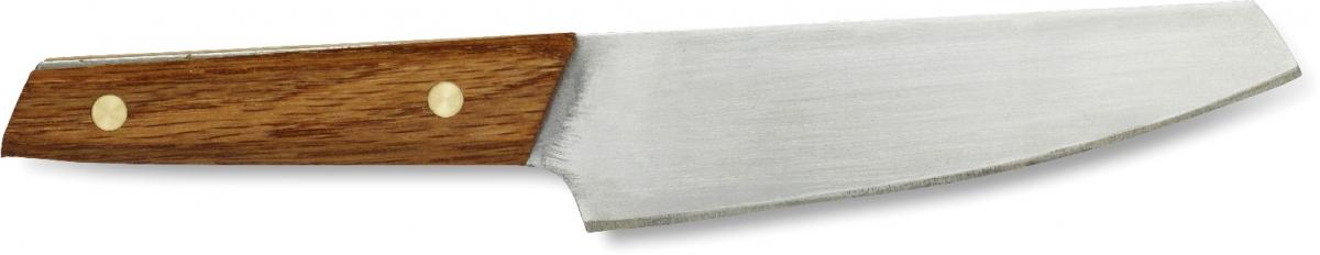 Нож Primus CampFire Knife, цвет: серый, длина лезвия 12 см738008Нож Primus CampFre Knife имеет гибкое лезвие из нержавеющей стали и дубовую ручку. Он предназначен для превосходной нарезки продуктов. Гибкое лезвие также позволяет нарезать филе. Длина лезвия: 12 см.