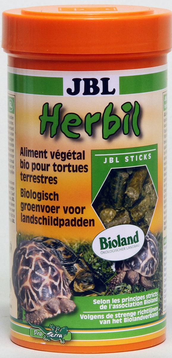 Корм JBL Herbil для сухопутных черепах, в форме гранул, 250 мл (165 г)0120710Корм JBL Herbilдля сухопутных черепах с пометкой Bioland. Состоит из трав, выращенных под руководством общества Bioland. Продукт высшего качества для кормления любых сухопутных черепах. Гранулы диаметром 6 мм, которые черепахи охотно поедают сухими или предварительно размоченными.Рекомендации по кормлению: Молодым черепашкам давать корм 2-3 раза в день в таком объеме, который они в состоянии съестьв течении 10 мин. Взрослым черепашкам достаточно до 5 кормлений в неделю в аналогичном объеме.Состав: белок 12%, жиры 4%, клетчатка 21%, чистая зола 11%, фосфор 0,34%, кальций 0,85%, злаки и травы 100%. Вес: 165 г. Товар сертифицирован.