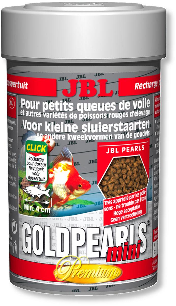 Корм JBL GoldPearls mini для маленьких вуалехвостых и других декоративных золотых рыб, в форме гранул, 100 мл (56 г)0120710Корм JBL GoldPearls mini класса премиум в форме гранул для вуалехвостых и других декоративных золотых рыб.Корм специально приспособлен к потребностям этих рыб, содержит высокую долю растительного и животного белка из зародышей пшеницы, сои и рыб. Высокоценные вещества водоросли спирулины, а также зародышей пшеницы и различное растительное сырье укрепляют здоровье рыб. Жизненно важные витамины, ненасыщенные жирные кислоты и каротиноиды укрепляют иммунитет и обеспечивают здоровый рост. Кормить можно несколько раз в день, маленькими порциями, которые съедаются за несколько минут. Идеальный размер корма для рыб от 4 см.Состав: белок 41%, жир 5%, клетчатка 4%, зола 11%;Содержание витаминов в 1000 г.: витамин А 25000 i.E., витамин D3 2000 i.E., витамин Е 300 мг., витамин С 200 мг. Вес: 56 г. Товар сертифицирован.