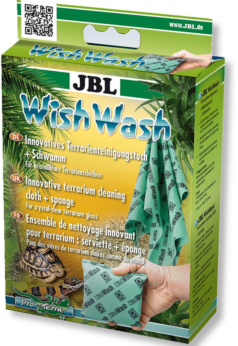 Губка и салфетка JBL WishWash, для эффективной очистки стекол аквариума, 2 предметаJBL6152600Специальная губка и салфетка JBL WishWash для чистки стекол аквариума выполнены из нового специального материала Fyrell на основе микрофибры. Изделия растворяют грязь, впитывая ее, вместо того, чтобы растирать ее по стеклу. Таким образом, протирочные средства уменьшают нагрузку на воду при чистке стекол. Стекла очищаются быстро, чисто и без особых усилий. После использования просто ополосните губку или салфетку без мыла, и они вновь готовы к работе. Стираются при температуре 60°С. Работая с этими средствами, нет опасности пораниться, так как в них нет ни лезвий, ни острых краев.Размер губки: 12 х 10,5 х 2,5 см.Размер салфетки: 49,5 х 39 см.
