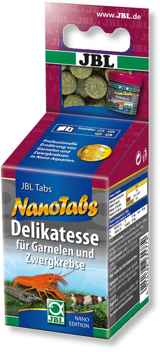 Корм JBL NanoTabs для креветок и карликовых раков, в форме таблеток, 60 мл (36 г)0120710Корм JBL NanoTabs в форме таблеток для креветок и карликовых раков. Профессионально сбалансированные компоненты обеспечивают специфические потребности различных разновидностей беспозвоночных и их беспроблемную линьку, а также здоровый (не слишком быстрый) рост. - Разнообразие питания беспозвоночных.- Таблетки не могут быть унесены креветками или раками, что обеспечивает наблюдателю возможность увидеть весь процесс кормления.- Профессиональный подбор компонентов для правильного питания, успешной линьки и здорового (не слишком быстрого) роста.- Обеспечивает разнообразие в диете.Состав: овощные субпродукты 22,20%, рыба и рыбные субпродукты 9,20%, молоко и молочные продукты 8,30%, моллюски и ракообразные 8,20%, овощи 7,10%, растительный белок 5,30%, дрожжи 0,90%, витамины А 20000 I.E., D3 2000 I.E., Е 300 мг., С 350 мг., инозит 400 мг. Вес: 36 г. Количество таблеток 95 шт.Товар сертифицирован.