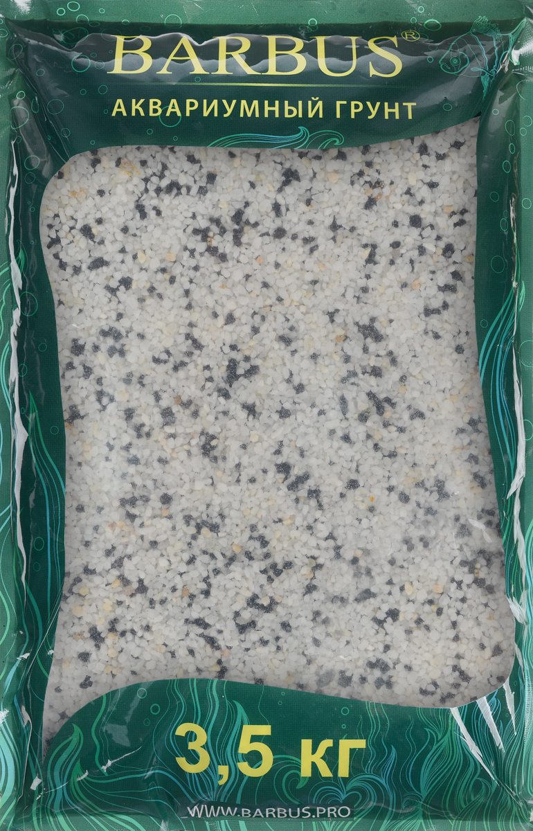 Грунт для аквариума Barbus Микс, натуральный, цвет: черный, белый, 2-5 мм, 3,5 кг грунт для аквариума barbus феодосия 4 натуральный галька 20 40 мм 3 5 кг