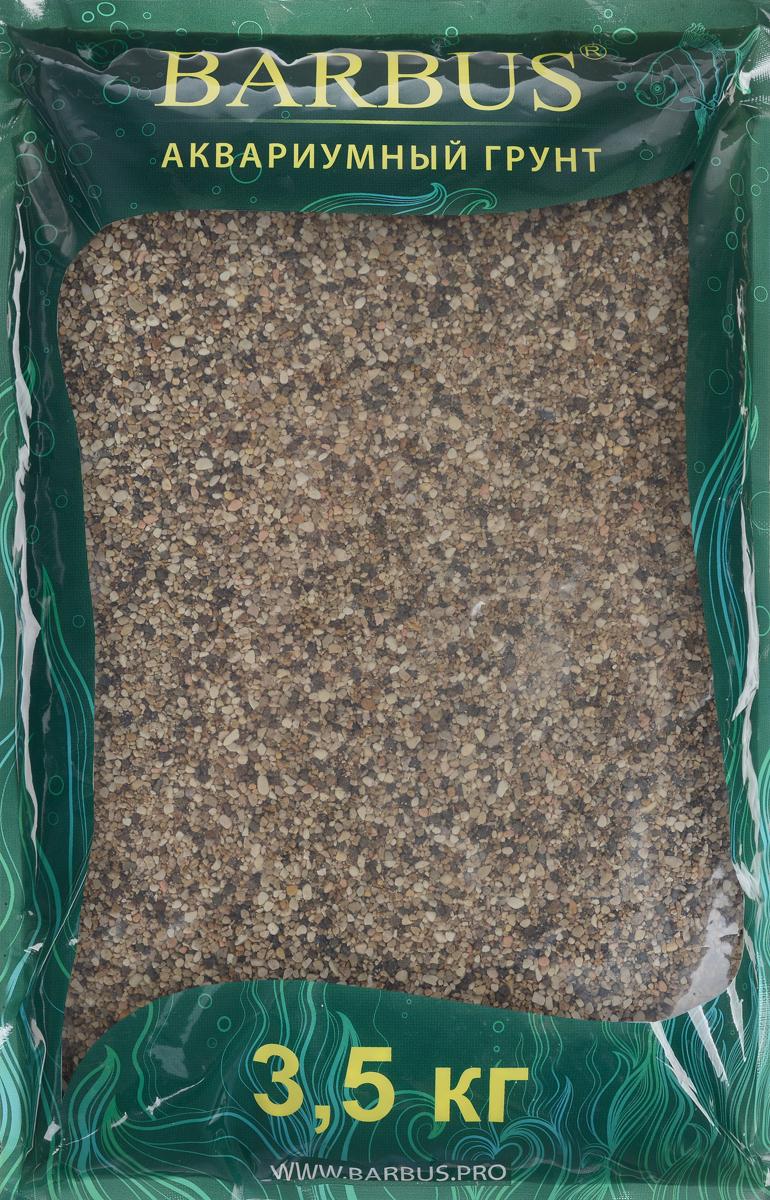 Грунт для аквариума Barbus Пестрая №0, натуральный, галька, 1-3 мм, 3,5 кг галька реликтовая эко грунт для аквариумов 4 8 мм 3 5 кг