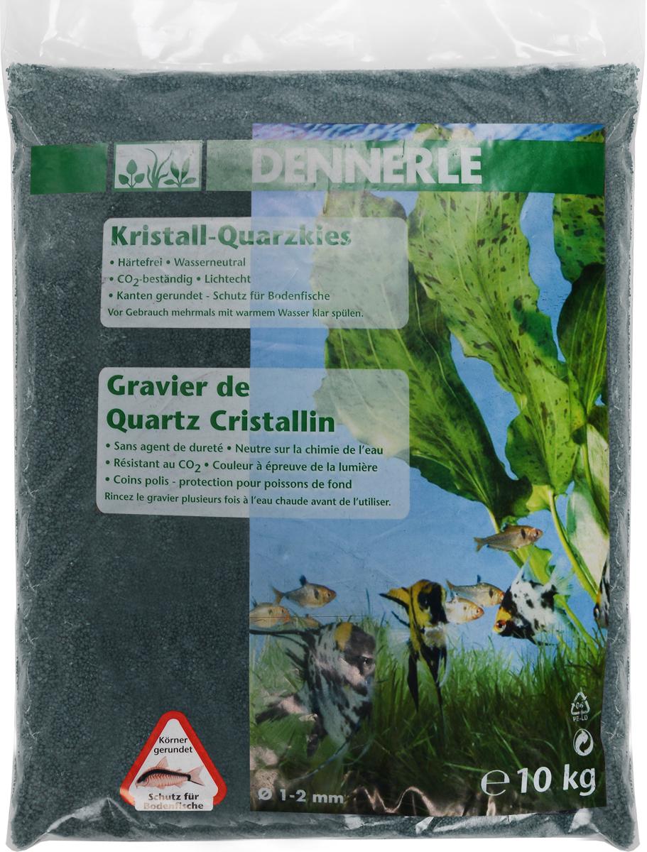 Грунт для аквариума Dennerle Kristall-Quarz, натуральный, цвет: темно-зеленый, 1-2 мм, 10 кг0120710Натуральный грунт Dennerle Kristall-Quarz предназначен специально для оформления аквариумов. Изделие готово к применению.Натуральный гравий имеет округлую форму зерна, поэтому он безопасен для донных рыб.Гравий является светостойким, он устойчив к CO2, нейтрален к воде.Грунт  Dennerle  порадует начинающих любителей природы и самых придирчивых дизайнеров, стремящихся к созданию нового, оригинального. Такая декорация придутся по вкусу и обитателям аквариумов и террариумов, которые ещё больше приблизятся к природной среде обитания.Фракция: 1-2 мм.Объем: 10 кг.