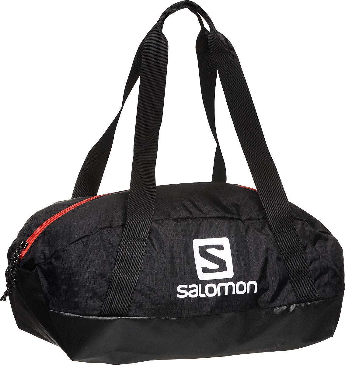 Сумка спортивная Salomon Prolog 25 Bag, цвет: черный, 25 л. L380023005361836490Сумка Salomon Prolog 25 Bag выполнена из качественного полиэстера и оформлена принтом с изображением логотипа бренда. Сумка оснащена удобными ручками и закрывается на удобную застежку-молнию. Внутри расположено вместительное отделение, которое содержит небольшой вшитый карман на молнии для мелочей.