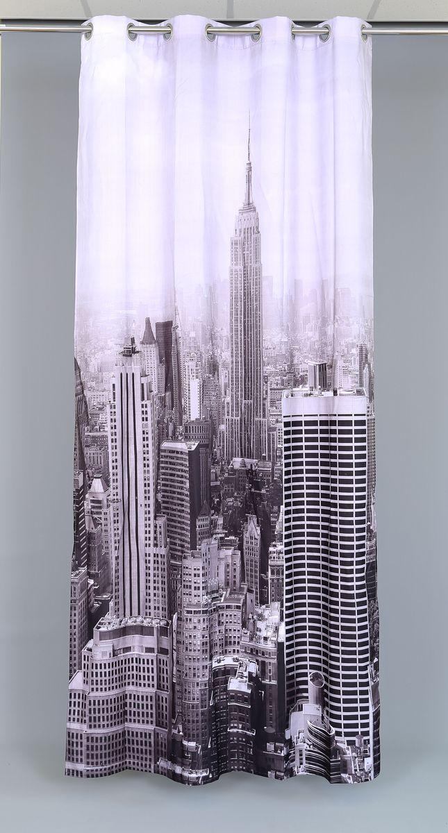 Штора Garden Manhattan City, на люверсах, высота 260 смSVC-300Роскошная штора Garden Manhattan City выполнена из 100% полиэстера и украшена городским принтом.Оригинальная текстура ткани и изящный дизайн привлекут к себе внимание и позволят шторе органично вписаться в интерьер помещения.Эта штора будет долгое время радовать вас и вашу семью!Штора крепится при помощи люверсов. Диаметр люверсов: 4 см.