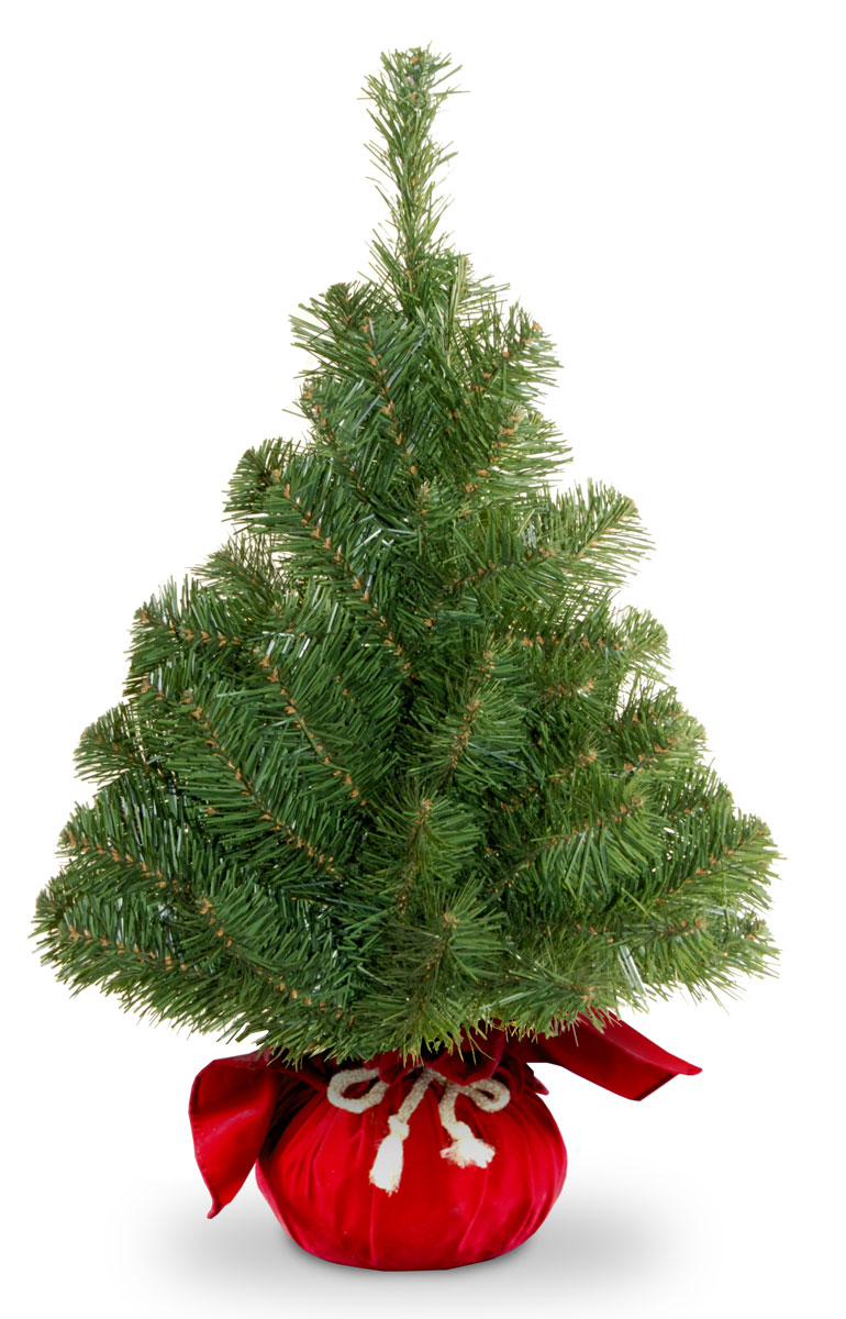 Ель искусственная National Tree Company New Noble Spruce Tree, настольная, в мешочке, высота 61 см131-041На эту елочку приятно смотреть, даже, когда она не наряжена! Она уютная, стильная и так оригинально смотрится, благодаря своим чудесным пушистым лапам и очаровательной подставке в виде мешочка. Однако яркие шары или симпатичные украшения сделают ее еще прелестнее. А представьте, какое удовольствие вы получите от самого процесса оформления - ведь очень приятно наряжать такое небольшое деревце!Настольная искусственная елка великолепного качества украсит любой интерьер, будет одинаково уместна как дома, так и в офисе. В интерьере она может также послужить прекрасным дополнением к большой новогодней ели.Еловые иголки не осыпаются, не мнутся и не выцветают со временем. Полимерные материалы, из которых они изготовлены, не токсичны и не поддаются горению. Высота: 61 см.