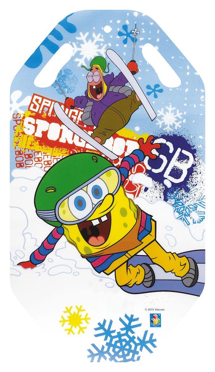 Ледянка 1toy Губка Боб, 92 смТ57200Ледянка Губка Боб предназначена для любителей зимних спортивных развлечений. Выполнена из ПВХ.На лицевой стороне имеется изображение с героями любимого мультфильма. На ледянке имеются ручки-прорези для удобства маневрирования.
