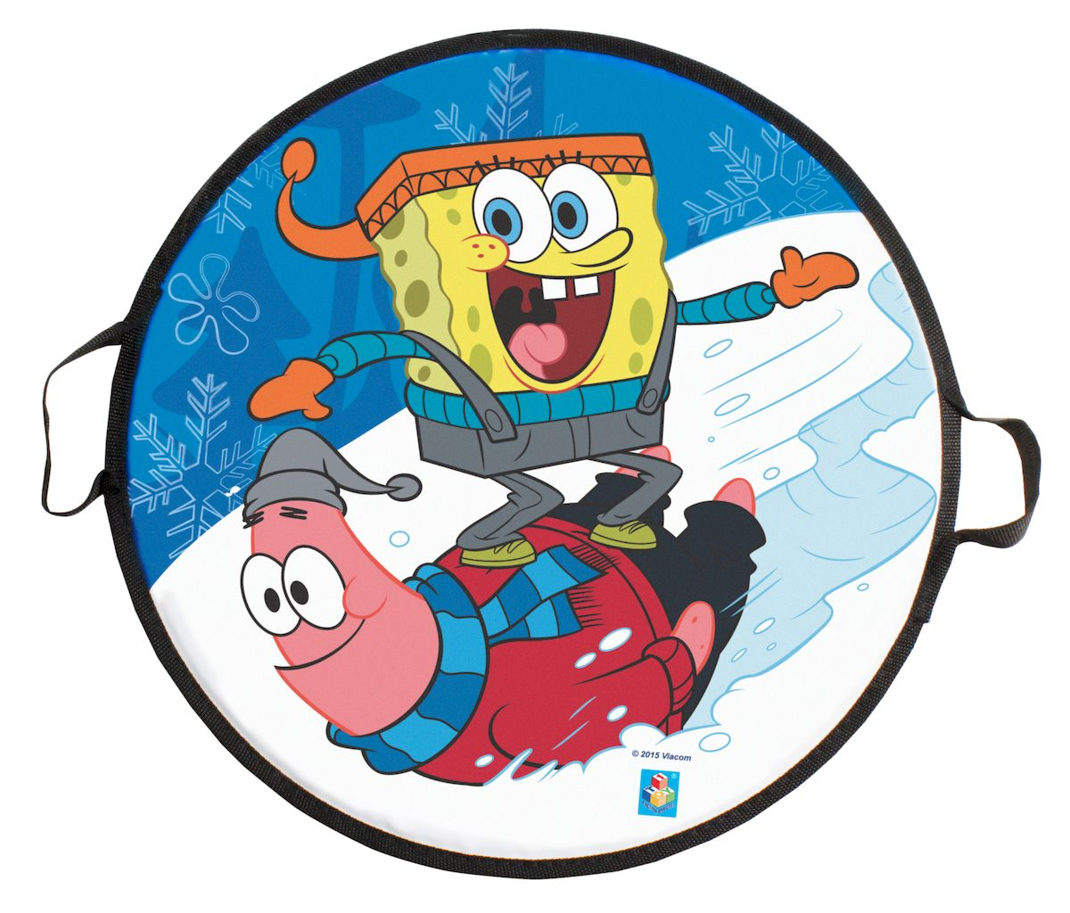 Ледянка 1toy Губка Боб, 52 смSB-39034Ледянка для любителей зимних спортивных развлечений с героями любимого мультфильма.