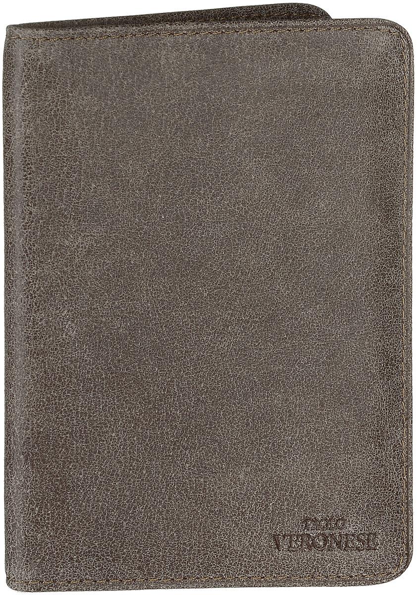 Обложка для паспорта мужская Paolo Veronese Альт, цвет: серо-коричневый. 7-57-NK39/O-057-A20-397-61-AN01/O044-A03-39Обложка для паспорта Paolo Veronese Альт выполнена из натуральной кожи. Спереди модель дополнена небольшим тиснением с названием бренда. Внутри - захваты из пластика. Обложка не только поможет сохранить внешний вид ваших документов и защитить их от повреждений, но и станет модным аксессуаром, идеально подходящим вашему образу. Обложка для паспорта стильного дизайна может быть достойным и оригинальным подарком.