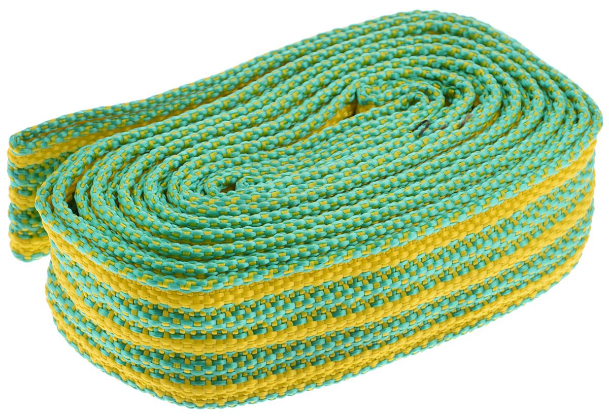 Трос буксировочный Azard, ленточный, цвет: зеленый, желтый, 3,5 т, 4,5 мPANTERA SPX-2RSБуксировочный трос Azard представляет собой ленту из сверхпрочнойполиамидной (капроновой) нити. Специальное плетение ленты обеспечивает эластичность троса и плавный старт автомобиля при буксировке. На протяжении всего срока службы не меняет свои линейные размеры.Трос морозостойкий, влагостойкий и устойчив к агрессивным средами воздействию нефтепродуктов. Длина троса соответствует ПДД РФ.Буксировочный трос обязательно должен быть в каждом автомобиле. Он необходим на случай аварийной ситуации или если ваш автомобиль застрял на бездорожье.Максимальная нагрузка: 3,5 т.Длина троса: 4,5 м.