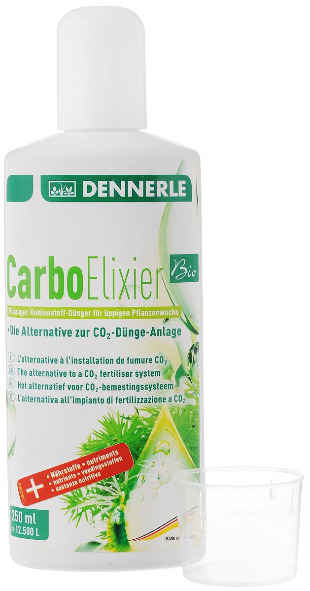 Удобрение для аквариумных растений Dennerle Carbo Elixier BIO, углеродное, с калием и микроэлементами, 250 мл0120710Удобрение Dennerle Carbo Elixier BIO - быстро и эффективно обеспечивает все аквариумные растения легкодоступным углеродом. Удобрение подавляет рост водорослей за счет сильного роста растений, его можно использовать как с CO2-системой, так и без нее. Видимый успех достигается всего лишь через несколько недель. При правильной дозировке удобрение биологически совместимо с любыми обитателями аквариума (рыбы, креветки, крабы, улитки и другие). Дозировка рассчитывается в зависимости от посадки и условий выращивания: ежедневно 1-3 мл препарата на объем до 100 л воды.