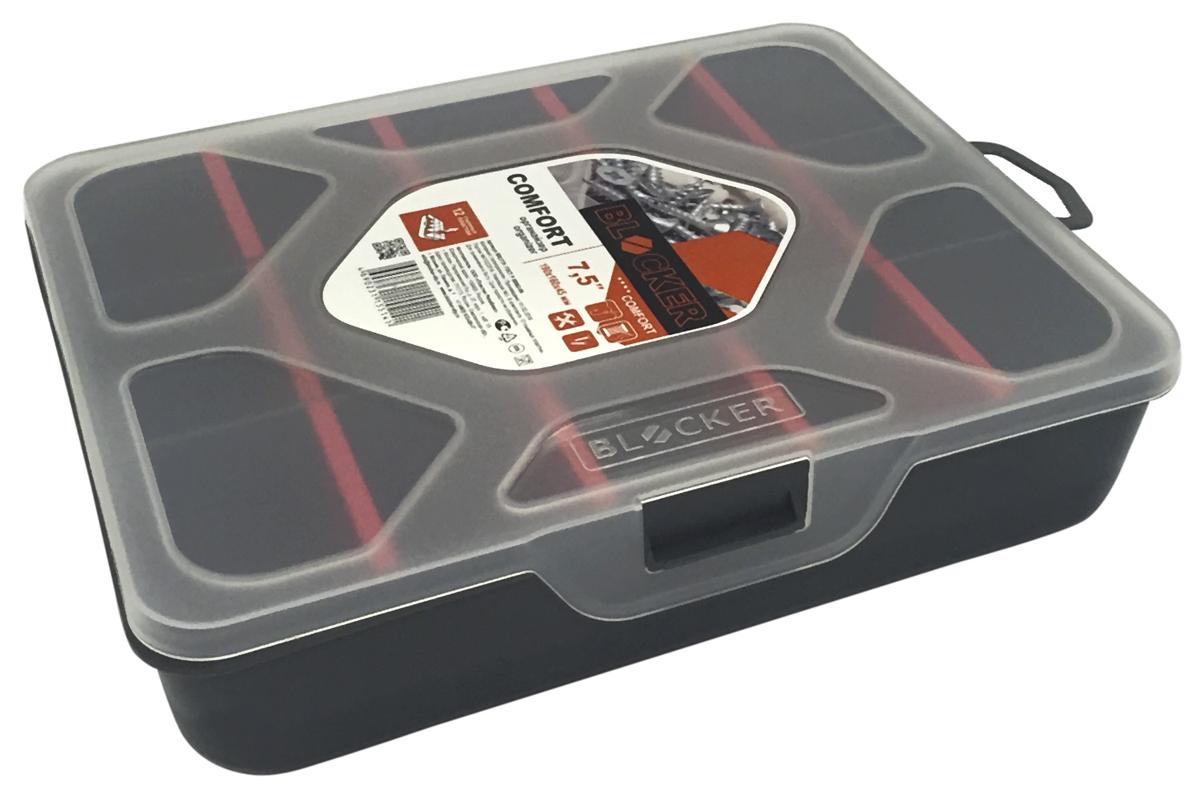 Органайзер Blocker Comfort, цвет: серый, 7,5ES-412Органайзер Blocker Comfort создан специально для оптимальной организации пространства. Внутреннее деление на отсеки делает удобным размещение внутри блока деталей, которые необходимо отделить друг от друга. Благодаря съемным перегородкам можно легко регулировать количество и размер ячеек. А прозрачная крышка позволяет увидеть содержимое, не открывая блок. Подходит для хранения метизов, а также швейных принадлежностей.