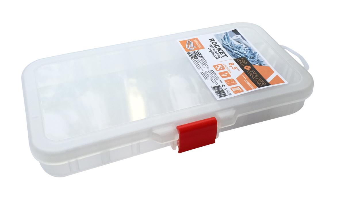 Органайзер Blocker Rocket, цвет: прозрачный, 8,510503Органайзер Blocker Rocket создан специально для оптимальной организации пространства. Внутреннее деление на отсеки делает удобным размещение внутри блока деталей, которые необходимо отделить друг от друга. Благодаря съемным перегородкам можно легко регулировать количество и размер ячеек. А прозрачная крышка позволяет увидеть содержимое, не открывая блок. Подходит для хранения метизов, а также швейных принадлежностей.