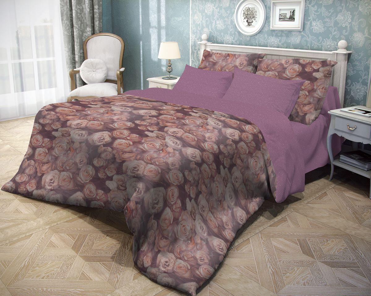 Комплект белья Волшебная ночь Rose, евро, наволочки 70x70, цвет: темно-бордовый. 702124FD 992Роскошный комплект постельного белья Волшебная ночь Rose выполнен из натурального ранфорса (100% хлопка) и оформлен оригинальным рисунком. Комплект состоит из пододеяльника, простыни и двух наволочек. Ранфорс - это новая современная гипоаллергенная ткань из натуральных хлопковых волокон, которая прекрасно впитывает влагу, очень проста в уходе, а за счет высокой прочности способна выдерживать большое количество стирок. Высочайшее качество материала гарантирует безопасность.
