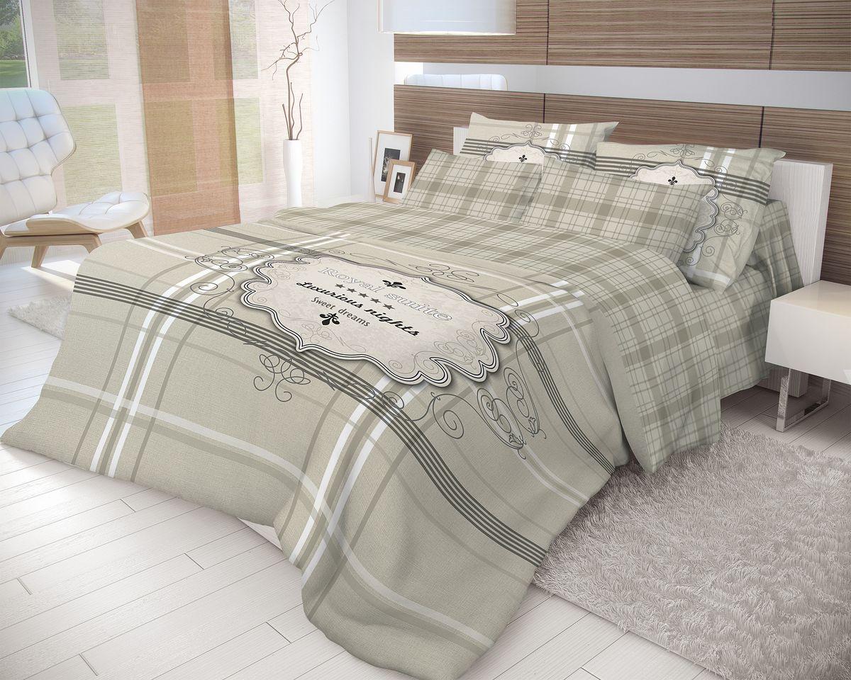 Комплект белья Волшебная ночь Royal Suite, евро, наволочки 50x70, цвет: темно-серый. 70221380870Роскошный комплект постельного белья Волшебная ночь Royal Suite выполнен из натурального ранфорса (100% хлопка) и оформлен оригинальным рисунком. Комплект состоит из пододеяльника, простыни и двух наволочек. Ранфорс - это новая современная гипоаллергенная ткань из натуральных хлопковых волокон, которая прекрасно впитывает влагу, очень проста в уходе, а за счет высокой прочности способна выдерживать большое количество стирок. Высочайшее качество материала гарантирует безопасность.