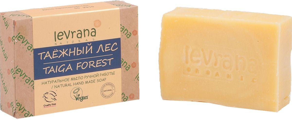 Levrana Натуральное мыло ручной работы Таёжный лес, 100 г5010777139655Натуральное мыло очень бережно очищает кожу лица и тела. Ежедневное умывание позволит вам избавиться от сальности, вы забудете что такое проблемная Т-зона.Натуральное мыло ручной работы сделано только на растительных маслах, и обогащено экстрактами растений и ягод.