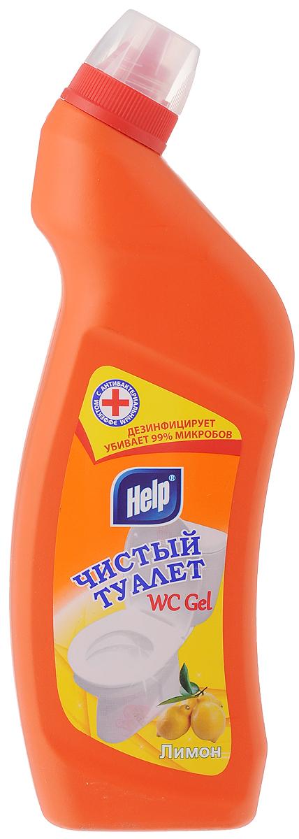Средство для чистки унитаза Help Чистый туалет, с ароматом лимона, 750 мл391602Средство Help Чистый туалет предназначено для чистки и ухода за туалетом. Удаляет ржавчину, устойчивые загрязнения, отложения мочевого и известкового камней. Средство обладает антимикробным действием, устраняет неприятный запах и имеет густую консистенцию, благодаря чему не стекает с наклонных поверхностей. Товар сертифицирован.