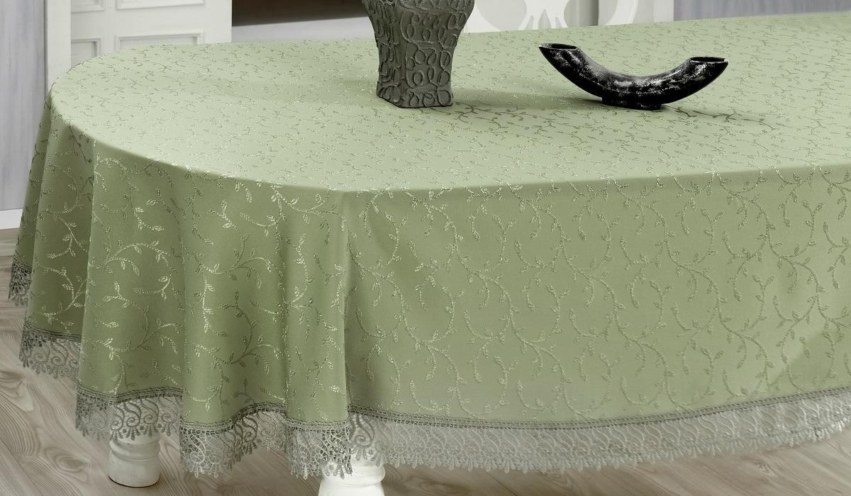 Скатерть Evdy Kdk, квадратная, цвет: оливковый, 160 х 160 смVT-1520(SR)Квадратная скатерть Evdy Kdk выполнена из высококачественного полиэстера и оформлена изящным узором, края оснащены фестонами. Использование такой скатерти сделает застолье торжественным, поднимет настроение гостей и приятно удивит их вашим изысканным вкусом. Также вы можете использовать эту скатерть для повседневной трапезы, превратив каждый прием пищи в волшебный праздник и веселье. Это текстильное изделие станет изысканным украшением вашего дома!