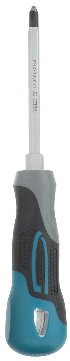Отвертка крестовая Gross, PH2 x 100 ммCA-3505Отвертка марки Gross изготовлена из высококачественной инструментальной стали S2. Предназначена отвертка для монтажа/демонтажа резьбовых соединений с крестообразным типом шлица (PH2). Насечки на жале увеличивают трение между отверткой и шлицом крепежа, что исключает возможность повреждения шлица. На стержень отвертки длиной 100 мм нанесено хромовое защитное покрытие, которое защищает металл от коррозии. Трехкомпонентная рукоятка длиной 109 мм, имеющая запатентованную форму, удобно и надежно фиксируется в руке. Твердость рабочих частей отвертки (стержень, рукоятка) составляет 56 HRC, максимально крутящий момент затяжки - 8,2 H*m. Снабжена отвертка подвесной картой, удобной для размещения инструмента на стенде.Порадуйте себя удобным и прочным инструментом.Длина инструмента: 21 см.