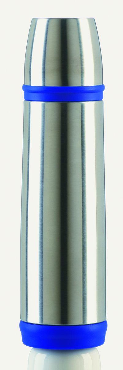 Термос Emsa Captain, цвет: синий, 0,5 л502472Термос Emsa Captain с двусторонней вакуумной колбой в классическом дизайне изготовлен из нержавеющей стали. Благодаря вакуумной крышке, термос 100% герметичен. Крышку можно использовать как чашку. Удобный, компактный и практичный термос пригодится в путешествии, походе и поездке.