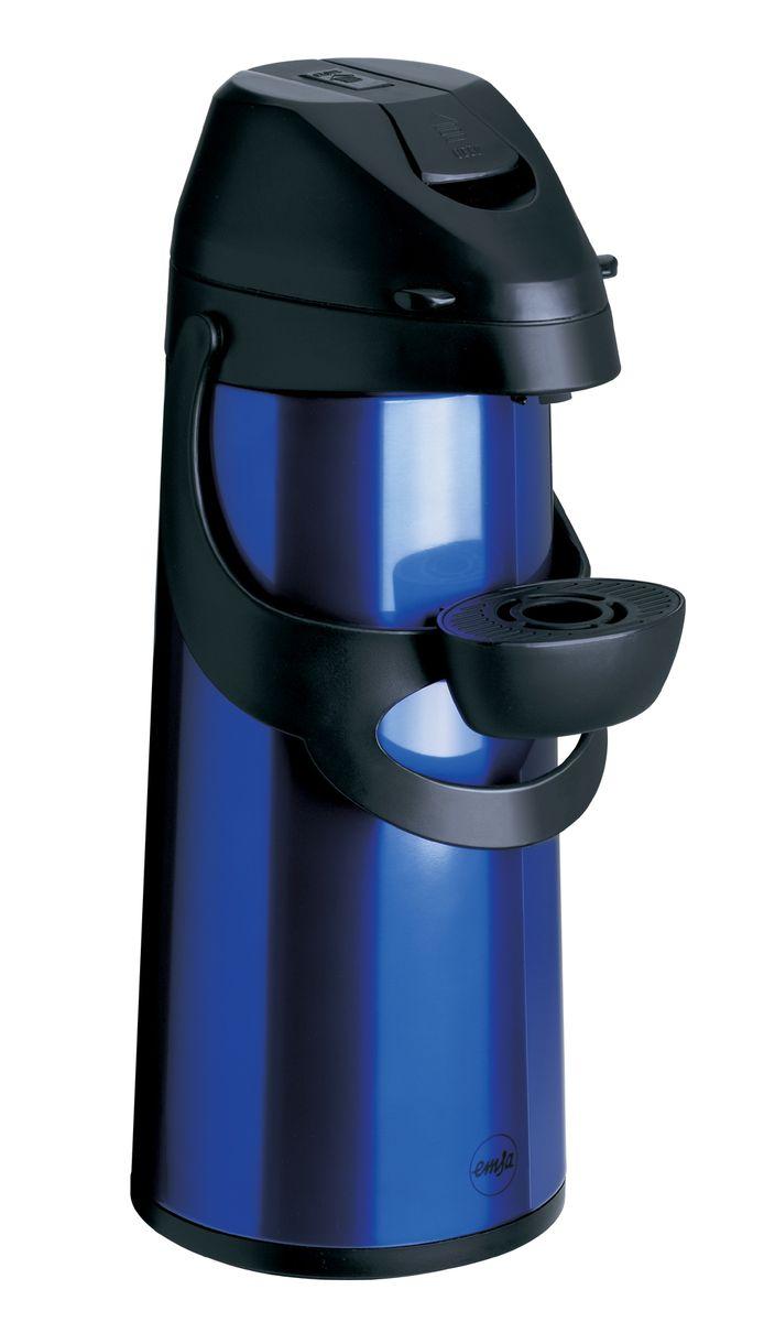 Термос Emsa Pronto, с насосом, цвет: синий, 1,9 л115510Термос Emsa Pronto с высококачественной вакуумной стеклянной колбой и пневмонасосом, идеально подойдет для больших вечеринок и событий дома и на работе, в походе, на рыбалке и на даче. Термос сохраняет напиток горячим до 12 часов, холодным до 24 часов.Насос и приёмная трубка легко снимаются, обеспечивая доступ к колбе и быстро и удобно моются. Регулируемая по высоте подставка для чашки, удобная система фиксации ручки насоса делают использование термоса приятным и удобным.