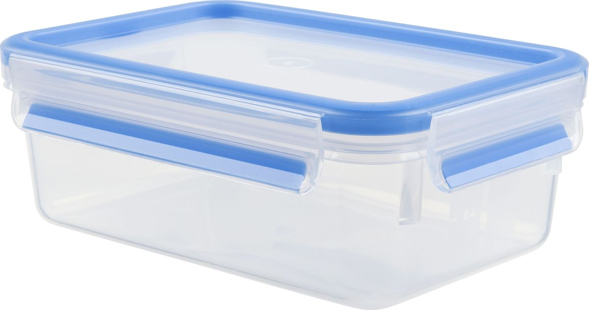 Контейнер пищевой Emsa Clip&Close, 1 лVT-1520(SR)Контейнер Emsa Clip&Close изготовлен из высококачественного антибактериального пищевого пластика, имеющего сертификат BPA-free, который выдерживает температуру от -40°С до +110°С, не впитывает запахи и не изменяет цвет. Это абсолютно гигиеничный продукт, который подходит для хранения даже детского питания. 100% герметичность - идеально не только для хранения, но и для транспортировки пищи. Герметичность достигается за счет специальных силиконовых прослоек, которые позволяют использовать контейнер для хранения не только пищи, но и жидкости. В таком контейнере продукты долгое время сохраняют свою свежесть - до 4-х раз дольше по сравнению с обычными, в том числе и вакуумными контейнерами. 100% гигиеничность - уникальная технология применения медицинского силикона в уплотнителе крышки: никаких полостей - никаких микробов. Изделие снабжено крышкой, плотно закрывающейся на 4 защелки. 100% удобство - прозрачные стенки позволяют просматривать содержимое, сохранение пространства за счёт лёгкой установки контейнеров друг на друга. Изделие подходит для домашнего использования, для пикников, поездок, отдыха на природе, его можно взять с собой на работу или учебу. Можно использовать в СВЧ-печах, холодильниках, посудомоечных машинах, морозильных камерах.