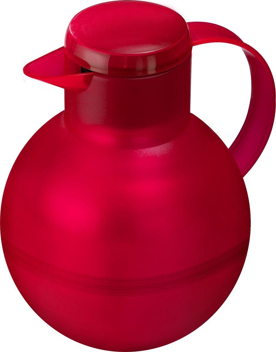 Термос-чайник Emsa Samba Tea, цвет: красный, 1 лVT-1520(SR)Удобный термос-кофейник Emsa Samba Tea станет незаменимым аксессуаром в поездках, выездах на природу, дачу, рыбалку или пикник. Корпус кувшина выполнен из высококачественного пластика, а колба - из стекла. На крышке изделия имеется кнопка Quick Press , с помощью которой вы сможете легко открыть герметичный клапан, а удобные носик и ручка позволят аккуратно разлить содержимое по стаканам. Пробка легко разбирается и превосходно моется.Линейка термосов Emsa Samba Tea славится элегантным дизайном, разнообразием цветов, высококачественной вакуумной индийской стеклянной колбой с серебряным напылением, сохраняющей ваш напиток горячим до 12 часов и холодным до 24 часов. 100 % герметичность сохранит аромат вашего напитка и не допустит в него посторонние запахи.