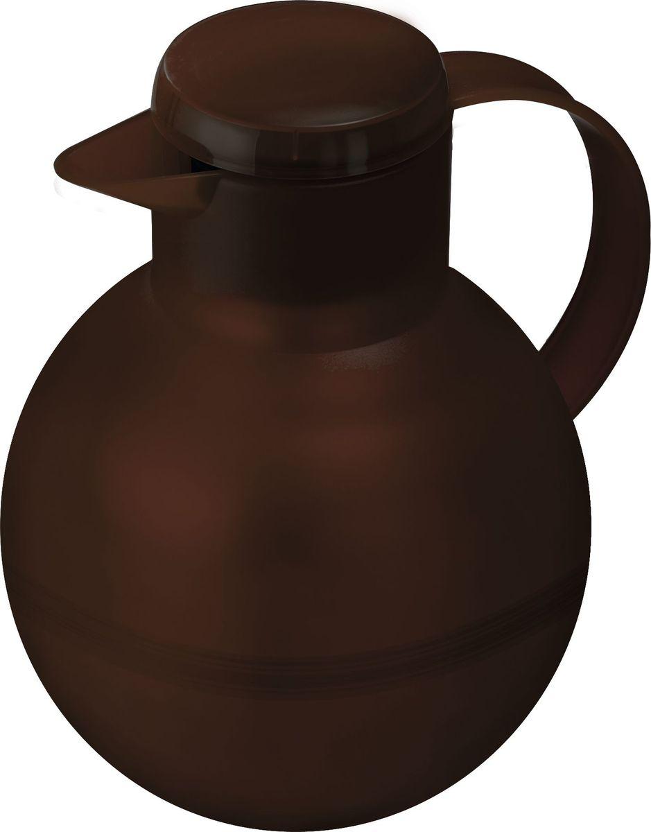 Термос-чайник Emsa Samba Tea, цвет: коричневый, 1 л391602Удобный термос-кофейник Emsa Samba Tea станет незаменимым аксессуаром в поездках, выездах на природу, дачу, рыбалку или пикник. Корпус кувшина выполнен из высококачественного пластика, а колба - из стекла. На крышке изделия имеется кнопка Quick Press , с помощью которой вы сможете легко открыть герметичный клапан, а удобные носик и ручка позволят аккуратно разлить содержимое по стаканам. Пробка легко разбирается и превосходно моется.Линейка термосов Emsa Samba Tea славится элегантным дизайном, разнообразием цветов, высококачественной вакуумной индийской стеклянной колбой с серебряным напылением, сохраняющей ваш напиток горячим до 12 часов и холодным до 24 часов. 100 % герметичность сохранит аромат вашего напитка и не допустит в него посторонние запахи.