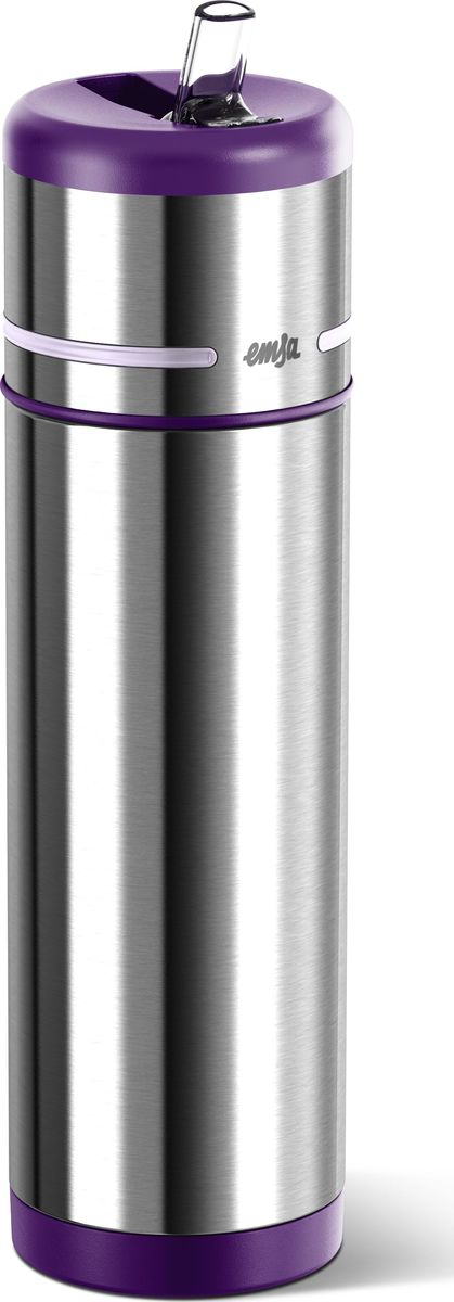 Термос-фляга Emsa Mobility, цвет: фиолетовый, 0,5 лVT-1520(SR)Вакуумный термос-фляга Emsa Mobility имеет современный дизайн и 100% герметичен. Имеет двустенную вакуумную колбу из нержавеющей стали и встроенный дозатор.