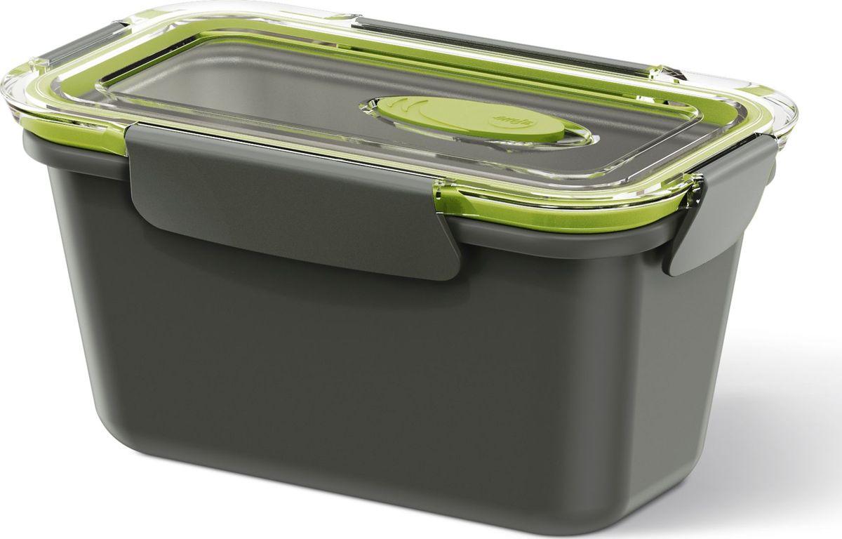 Ланч-бокс Emsa Bento Box, цвет: серый, зеленый, 0,9 лVT-1520(SR)Ланч-бокс Emsa Bento Box - еда с собой в стильной упаковке. В удобном и практичном ланч-боксе еда дольше останется свежей, вкусной и надежно упакованной.На крышке имеетсяклапан для щадящего режима разогревания в микроволновке. Ланч-бокс подходит не только для разогрева пищи, но и для заморозки. Можно мыть в посудомоечной машине. Современный дизайн позволяет брать контейнер с собой на учебу, работу или прогулку.