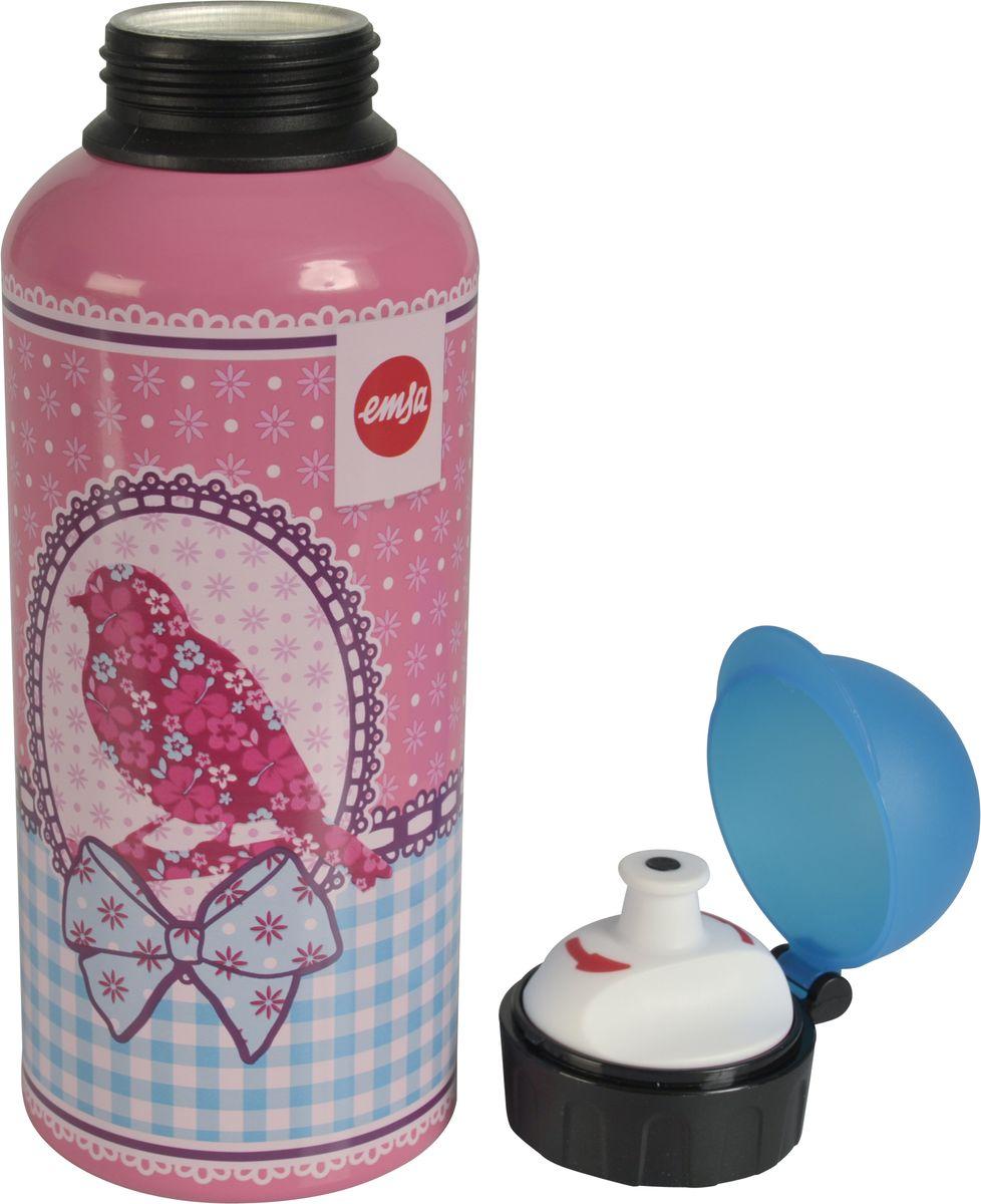 Бутылка Emsa Teens. Birdy Bow, с крышкой, 0,6 лVT-1520(SR)Оригинальная бутылка-фляга Emsa Teens. Birdy Bow оснащена питьевым клапаном, благодаря которому, пить можно прямо на ходу, не боясь разлить содержимое.Особенности бутылки: BPA Free. 100 % герметичная. 100 % надежная: крышка при открытом клапане не закрывается. 100 % гигиенична благодаря наружной резьбе.Питьевой клапан легко моется.Материал бутылки устойчив к воздействию фруктовых кислот.Яркий дизайн и удобство использования сделают эту бутылку отличным спутником на прогулке, учебе или в путешествии.